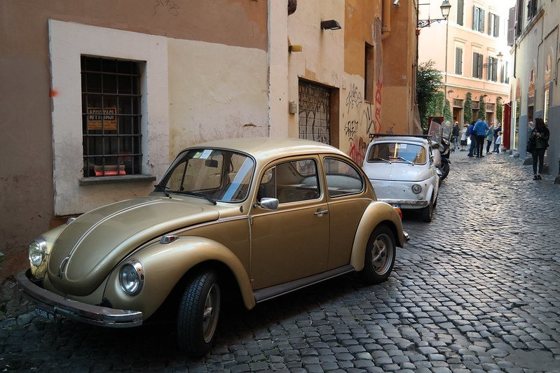 trastevere rome italy cars pic by mario sanchez prada