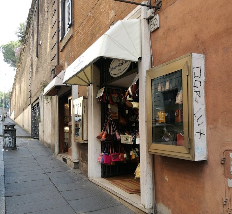 via francesco crispi leather shops