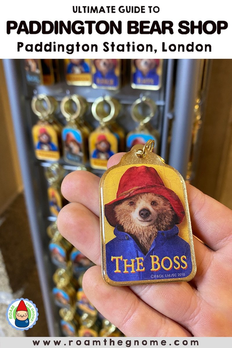 PIN 1 paddington bear store in london boss keyring 800
