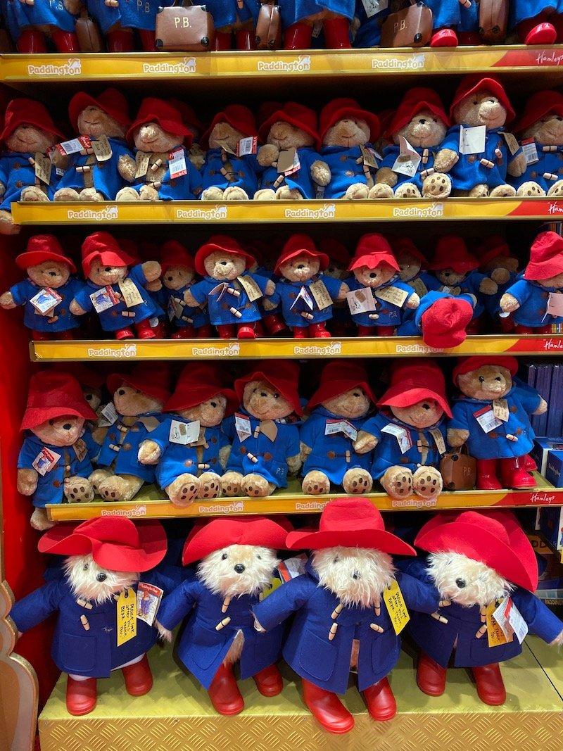 hamleys paddington bear dolls selection