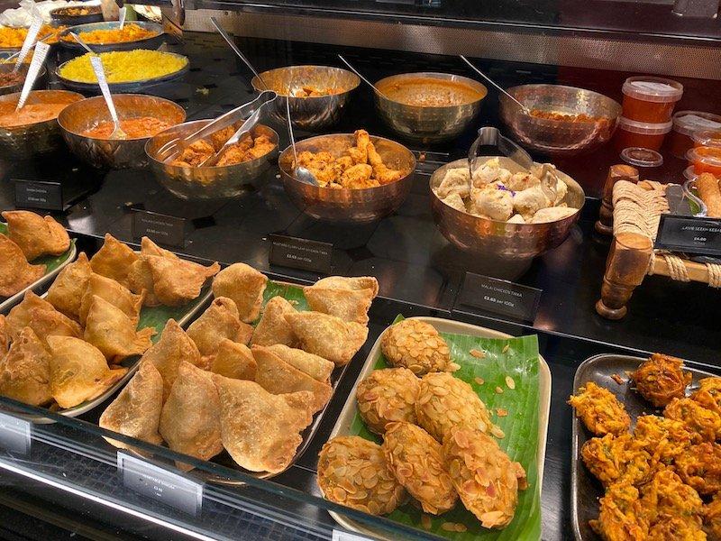 harrods food hall indian food