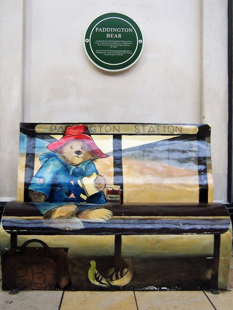 paddington bear book bench at paddington station london by teameister