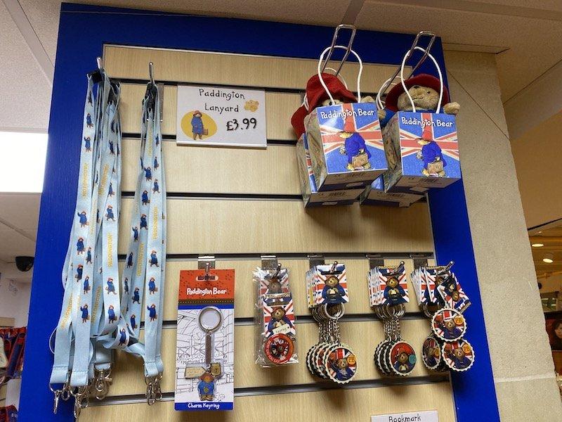 paddington bear shop in london keyrings and lanyards