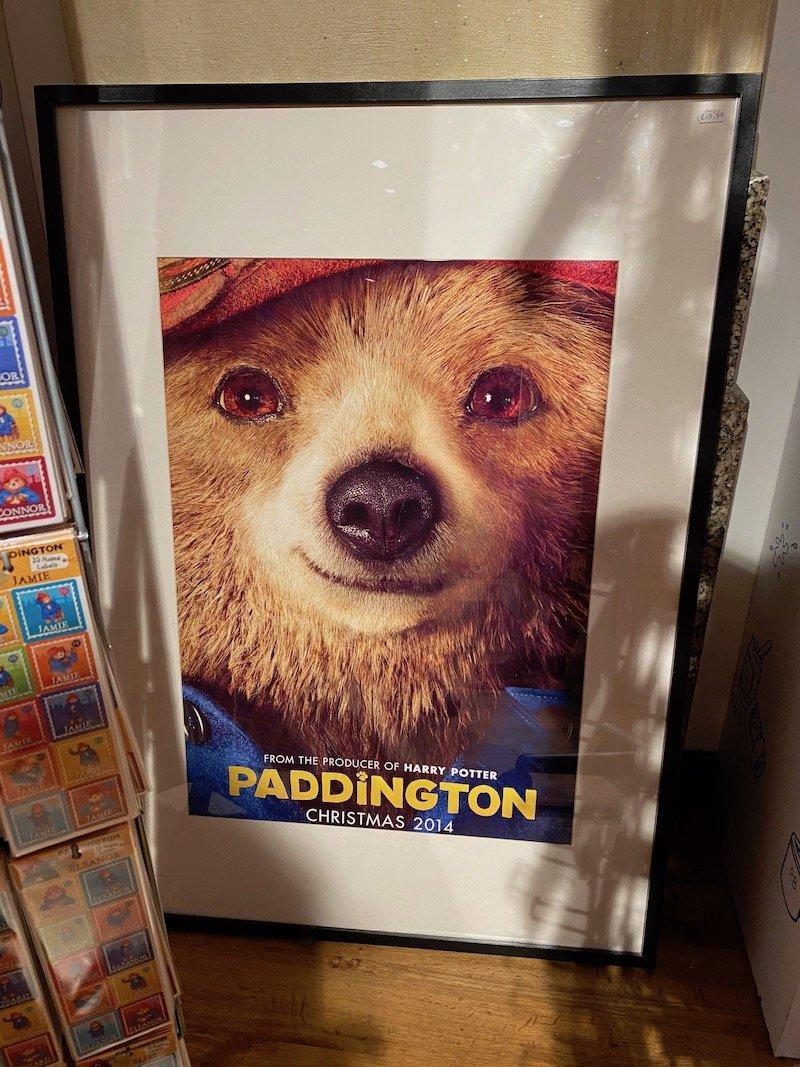 paddington bear shop in london movie poster