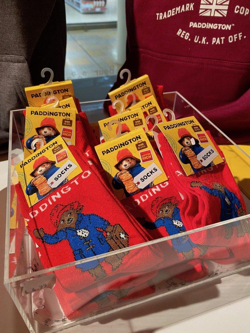 paddington bear shop socks