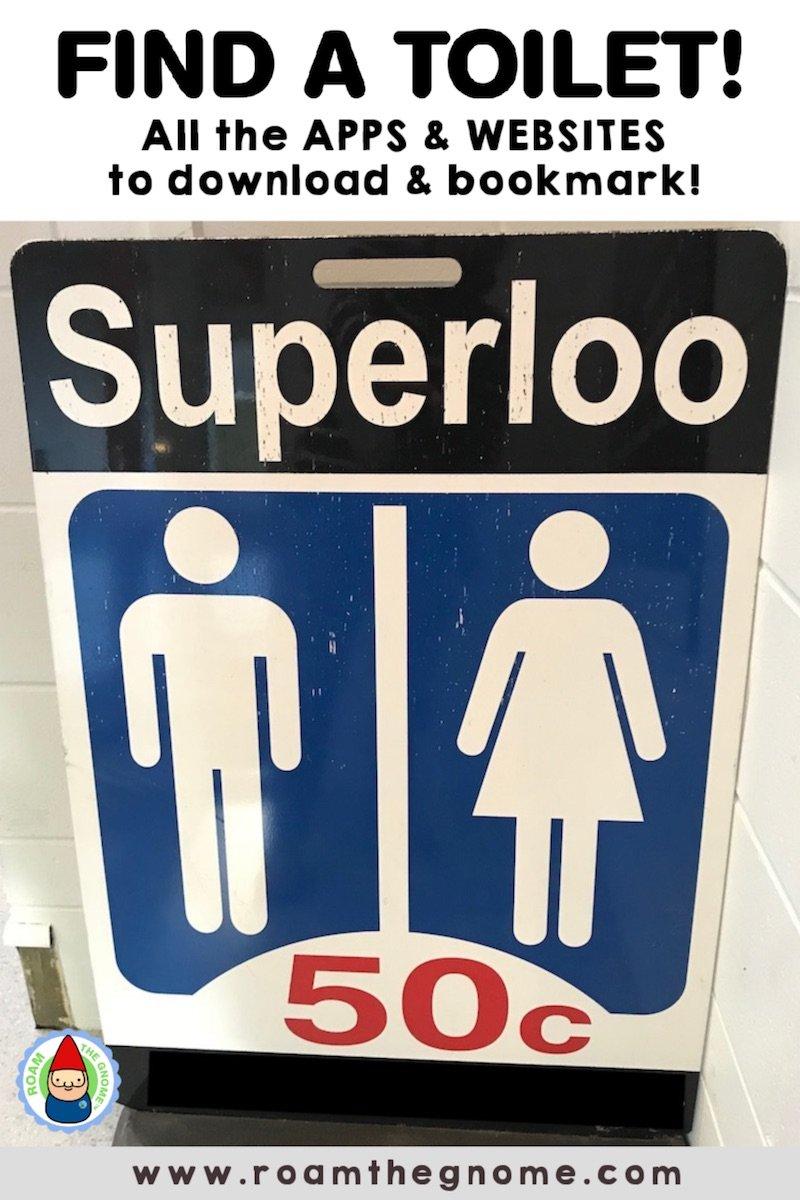 PIN find the nearest public toilet 800