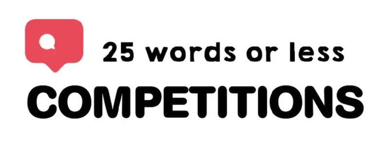 best competition websites 25 words or less