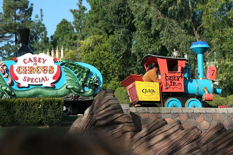casey jr. circus train at disneyland pic by jeff christiansen