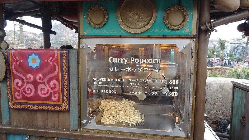 curry popcorn at tokyo disneysea