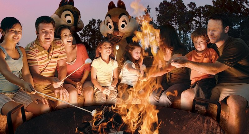 disney fort wilderness chip and dale campfire via Disney