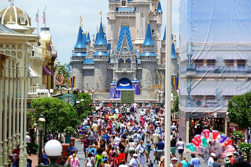 disney magic kingdom street view by marada