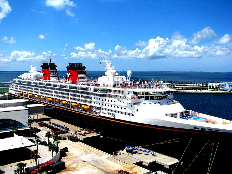 disney wonder at port canaveral by rennett stowe