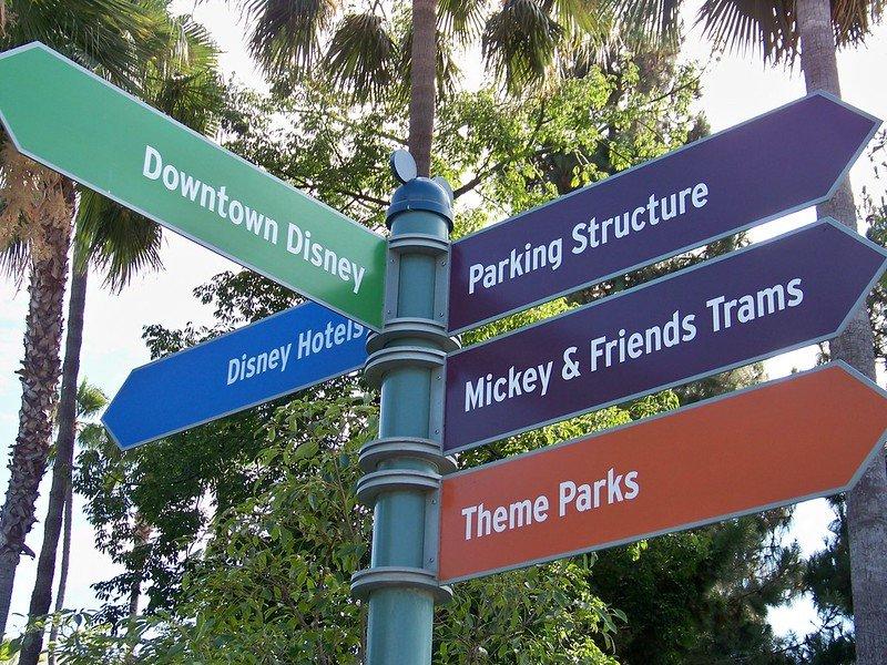 disneyland direction signs by loren javier