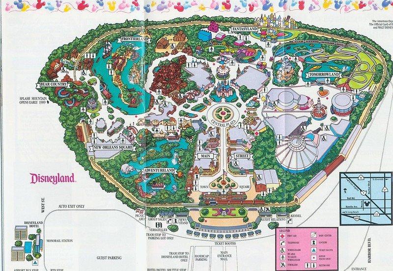 disneyland map from 1988 by loren javeir