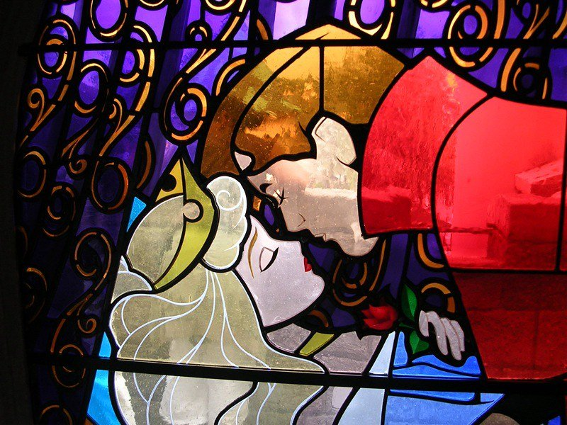 california disneyland stained glass by phil south