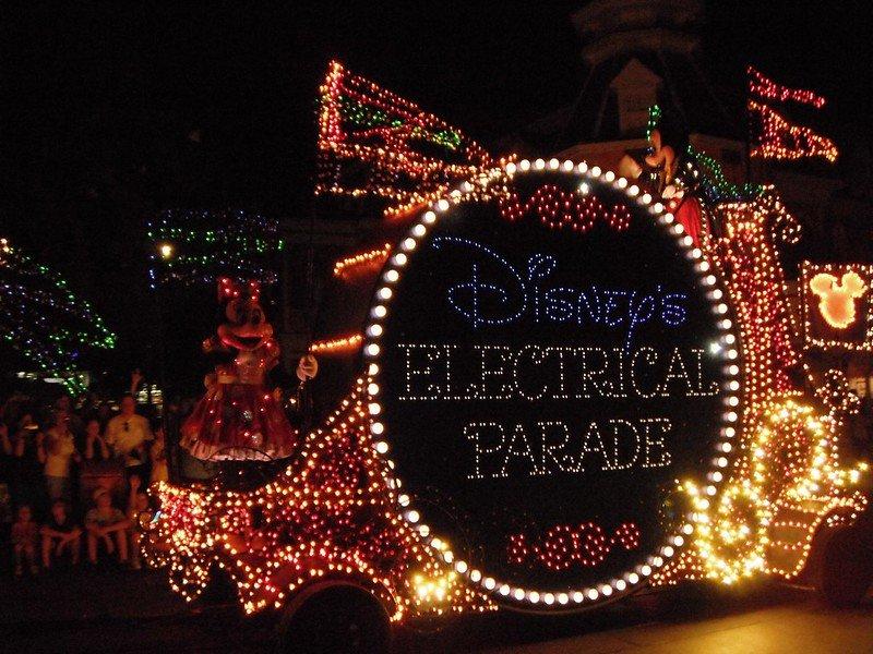 disney's electrical parade at magic kingdom by derek hatfield