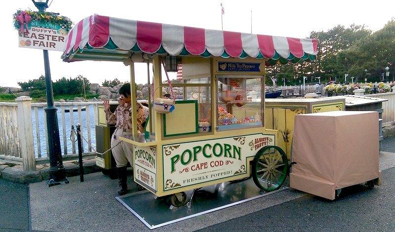 disneysea milk tea popcorn cart by sstrieu