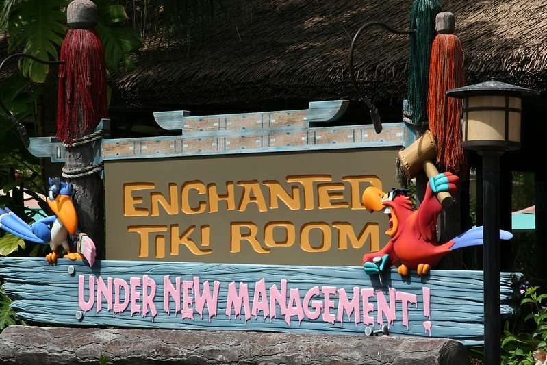 enchanted tiki room sign by jeff christiansen