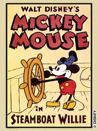 original steamboat mickey poster by s woodside