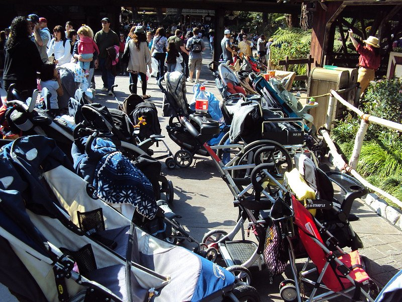 stroller parking tips for first time at disneyland by katie king flickr
