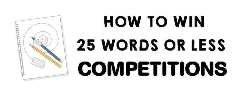 25 words or less competitions