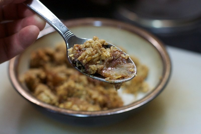 apple crumble by px here