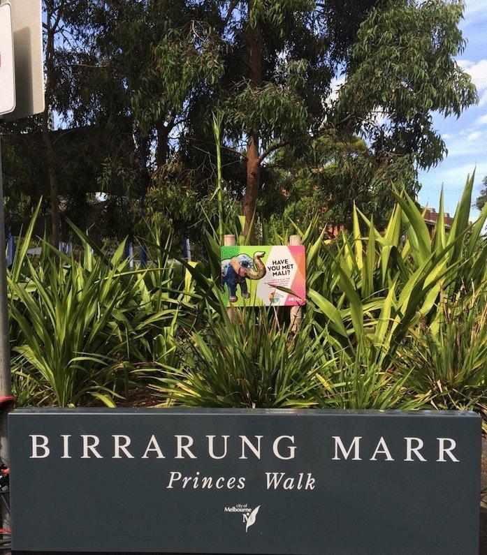 birrarung marr princes walk sign pic