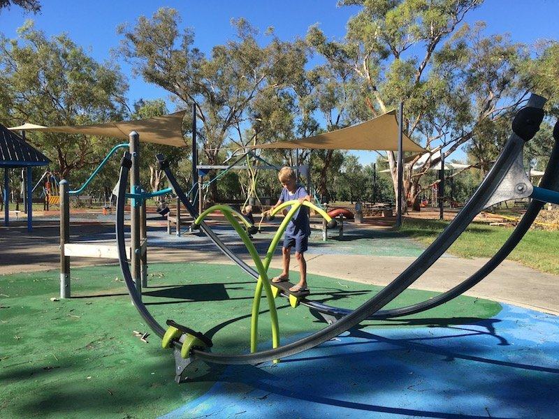 black mountain peninsula playground canberra slide pic