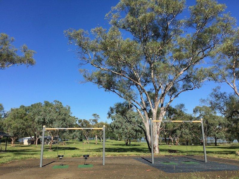black mountain peninsula playground canberra swings pic