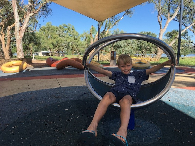 black mountain peninsula playground in canberra 360 ball pic