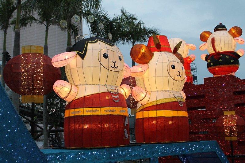 chinese new year lanterns clocktower by ian glen