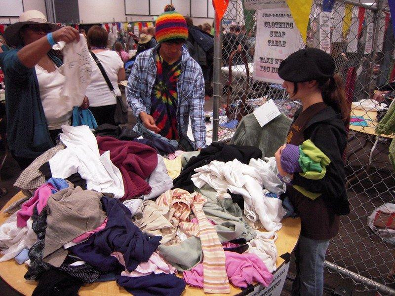 clothing swap meet by pip r lagenta flickr