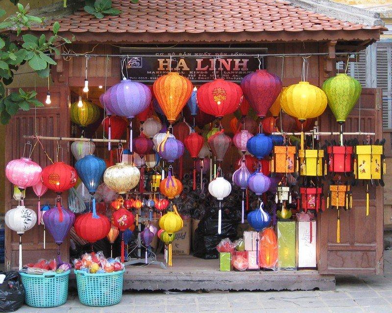 colorful lanterns by steven ridgway