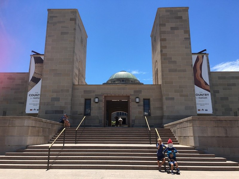 discovery zone canberra war memorial australia entrance steps pic