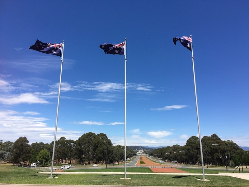 discovery zone canberra war memorial australia flags pic