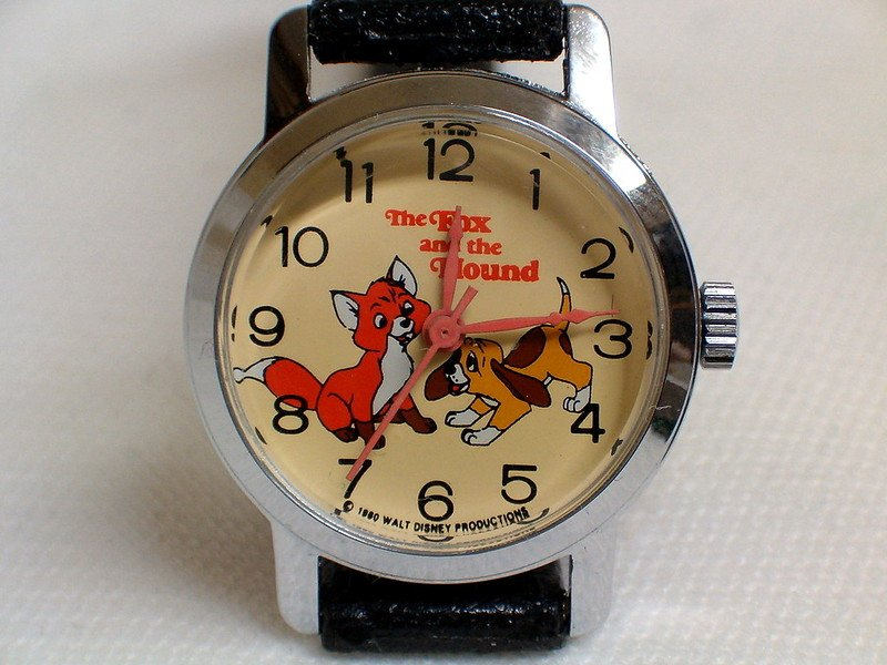 disney fox and hound watch collectible by joe haupt