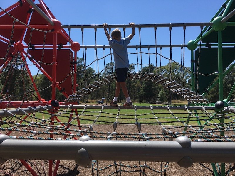 fadden pines playground fort netting pic