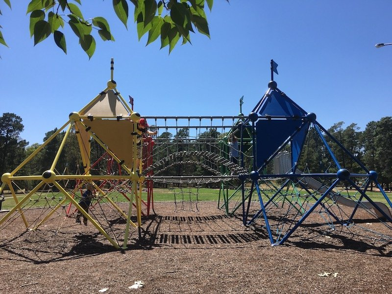 fadden pines playground canberra rainbow fort pic