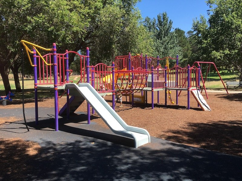 fadden pines playground canberra toddler fort pic