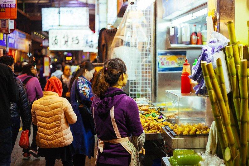 hong kong street food stalls by wwikgren