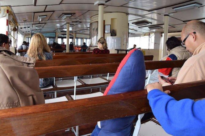 image - hong kong star ferry inside boat
