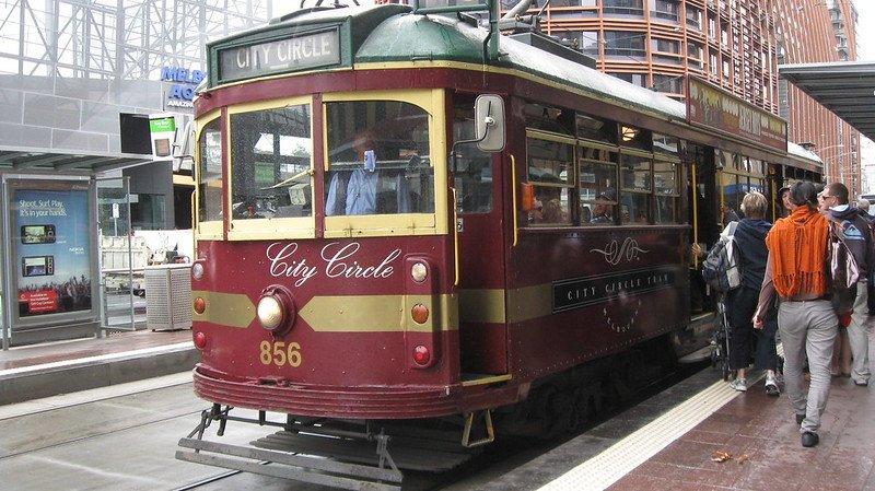 melbourne city circle tram by sarah stewart