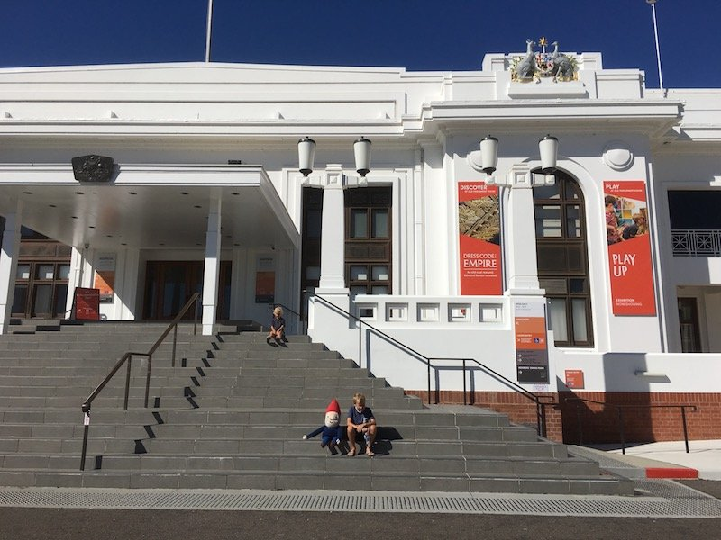 museum of australian democracy steps at front entrance pic