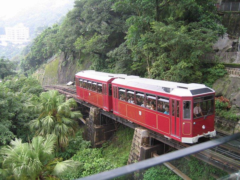peak tramways funicular by glenn strong
