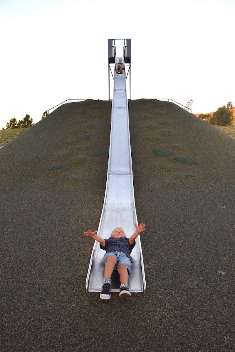 pic - Gordon Playground giant slide view from bottom