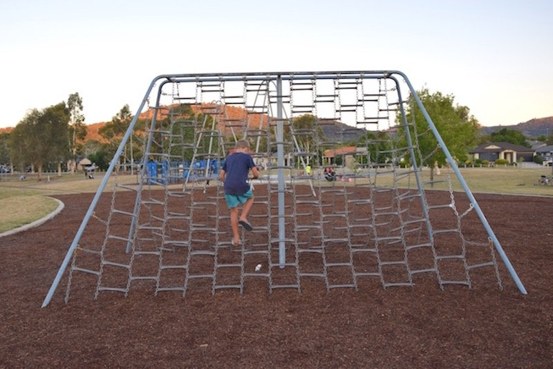 pic - Gordon Playground rope ladder