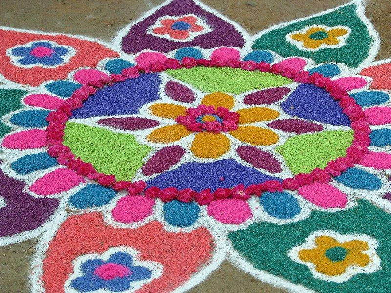 rangoli flower painting by mckay savage