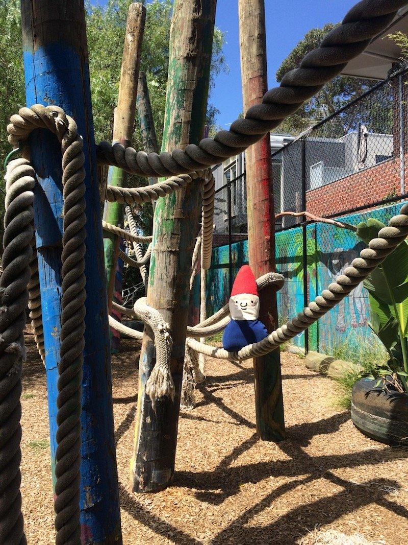 st kilda adventure playground melbourne climbing ropes pic