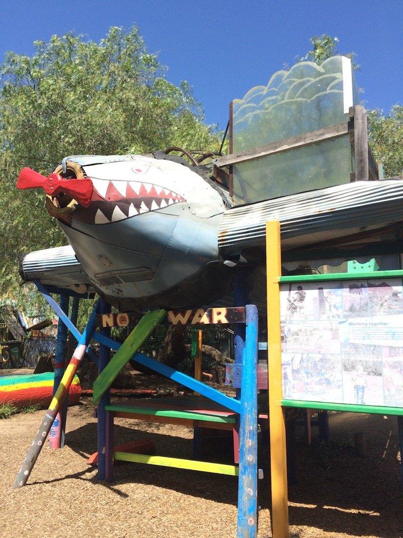 st kilda adventure playground melbourne shark fort pic