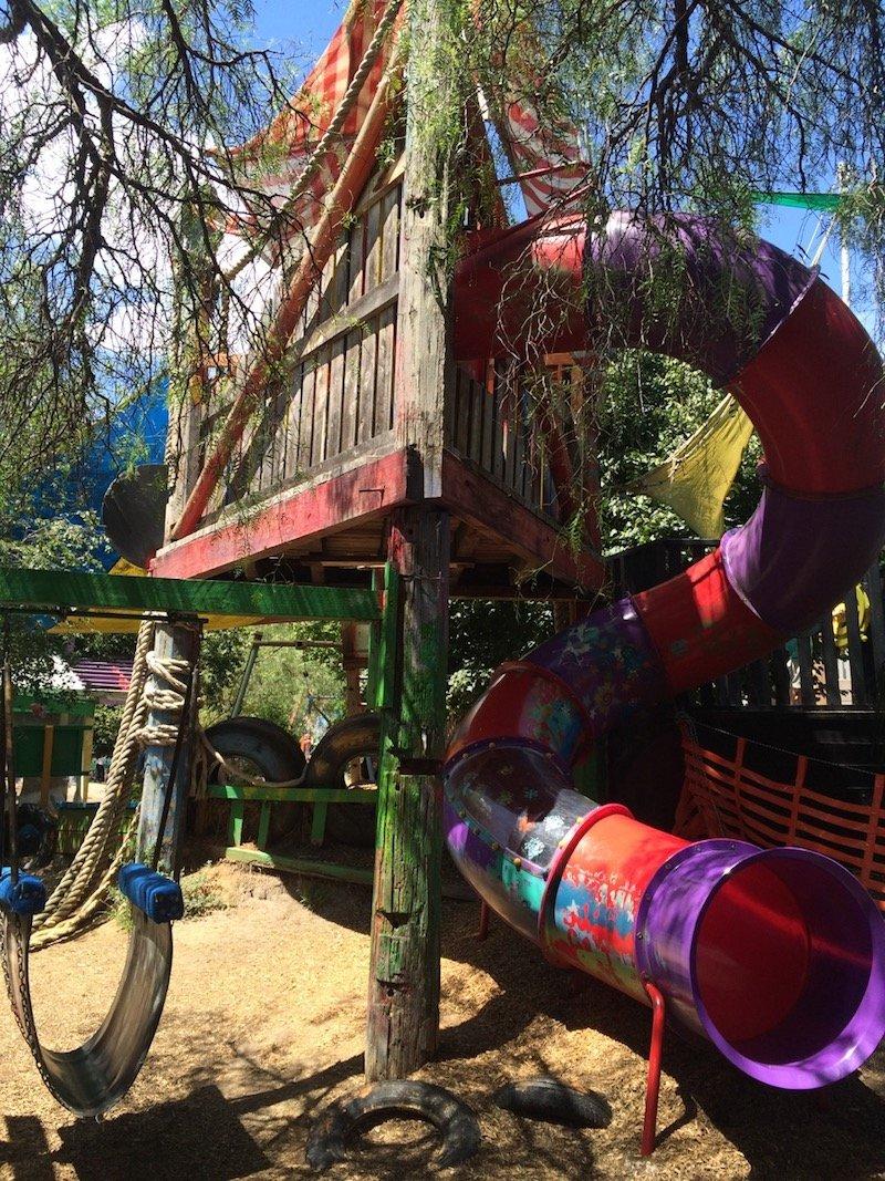 st kilda adventure playground melbourne slide pic